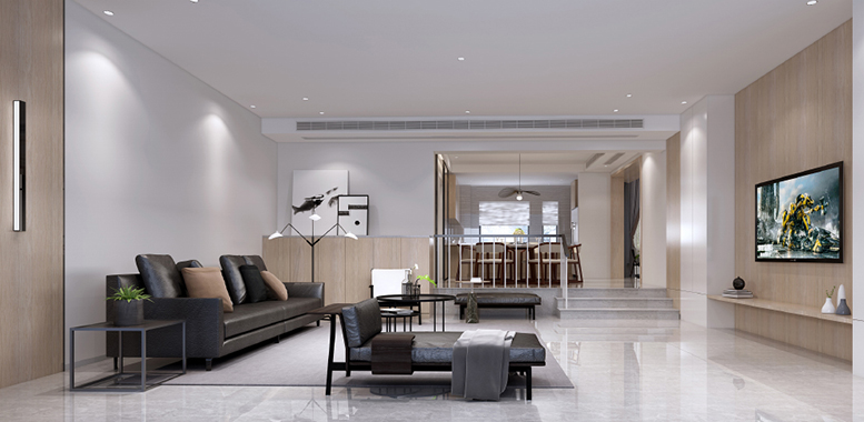 别墅装修设计之——现代简约装修风格客厅