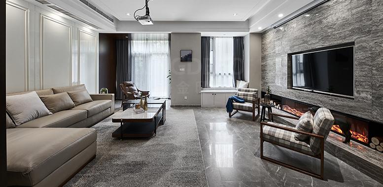 别墅装修设计之——现代轻奢风格客厅装修