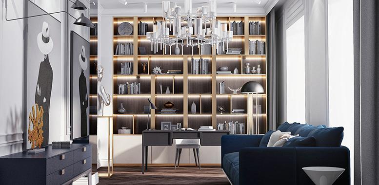 别墅装修设计之——书房装修需要注意的五个原则