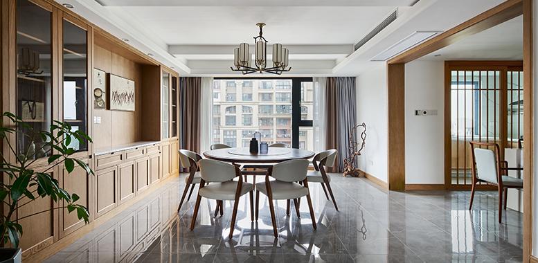 金邸装饰设计师以秋色饰家,打造暖意潮居