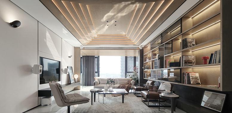 杭州别墅装修中的无主灯设计,给你更好的家居体验!