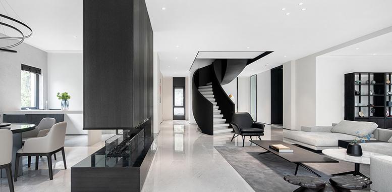 现代简约的杭州别墅装修,休闲舒适的家居体验