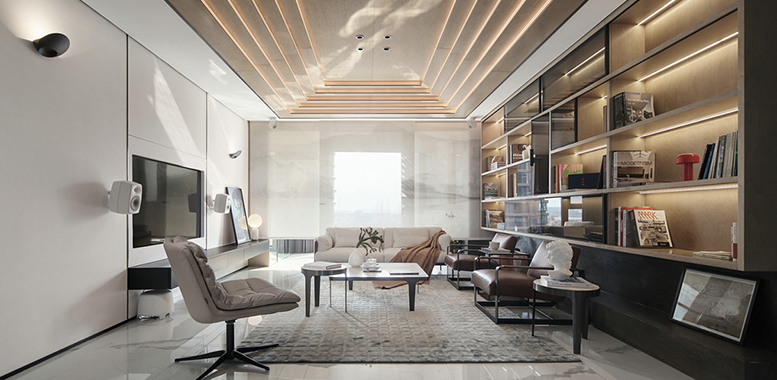 简约风格杭州别墅装修,让美好生活从这里开始!