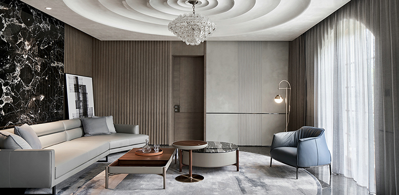 现代欧式风格杭州别墅装修,营造轻奢雅致的静谧时光
